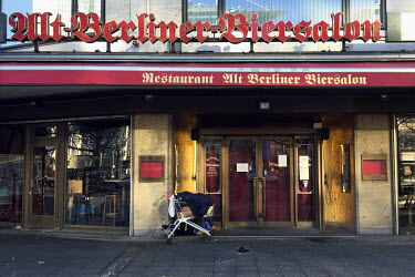 The closed Berliner Biersalon restaurant on the Kurfuerstendamm.