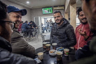 Hameda Ben Amor, a rapper known by his stage name El General, in the cafe he opened after the 2011 revolution. His protest song 'Rais Lebled', which was released in November 2010, took aim at Presiden...