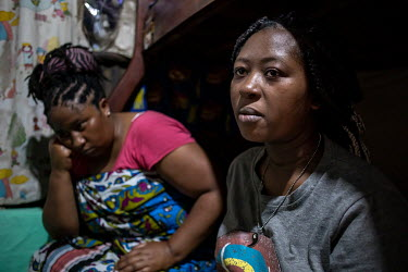 Shayann Michere (17) at home with her mother Elizabeth. With schools closed due to the coronavirus pandemic Shayann got into a relationship with a boy and got pregnant. She now sees her future dream o...