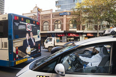 A Muslim taxi driver in central Sydney.