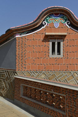 A detail of a recently renovated residence, enhancing the famed Fujianese architecture-style of houses in Husia Village.