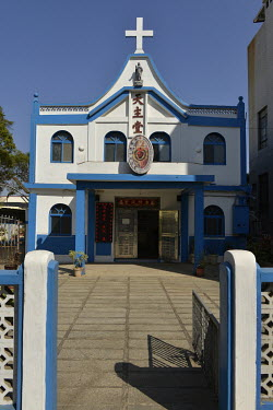 The Sacred Heart of Jesus Catholic Church in downtown Jincheng, Kinmen's largest town. A significant number of Kinmen residents are Christians, and there is a recent influx of Filippino care workers,...