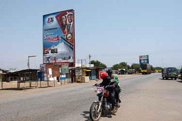 A billboard advertising Electrochem Ghana Limited's Songor Salt project on the highway through Sege, the closest town to the company's operations. Belonging to businessman Daniel McKorley, the company...