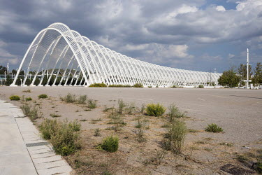 A steel walkway, by Spanish architect Santiago Calatrava, built for the 2004 Athens Olympics.