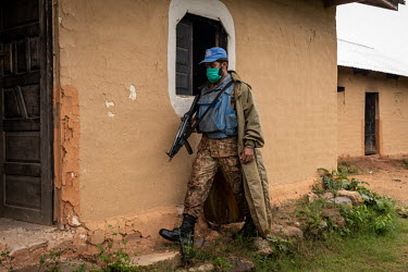 A Pakistani MONUSCO peacekeeping soldier checks the church in the abandoned village of Monyi on the Haut Plateau. The village lies in a remote area about 15 km north-east of Minembwe. It is only acces...