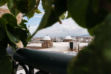 Cupolas of the Zitouna mosque and rooftops of the medina (old town) and city beyond.