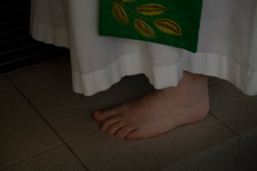 Pastor Rod Bower conducts a sermon bare foot.   Millions of people have viewed online Rod Bower's statements on a billboard out the front of his church. The short and punchy messages, spelled out in 3...