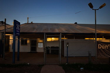 Wadeye police station and courthouse positioned on the main road in the middle of town. The area on the main road around the police station and courthouse has been the location of much of the town's v...