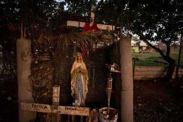 A Catholic shrine outside a home in Wadeye, the largest Aboriginal town in the Northern Territory.   Wadeye is the largest Aboriginal town in the Northern Territory. Its seven different tribes were di...