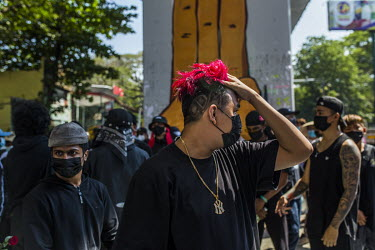 JJ, a hip-hop dancer, participates in a group performance to protest against the military dictatorship and to support the CIvil Disobedience Movements.