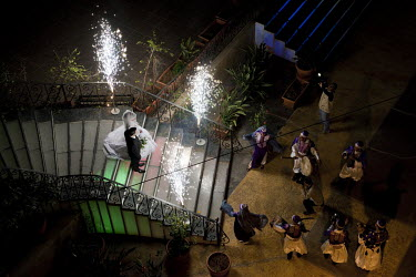 Tyre, Lebanon, April 19, 2011 Traditional wedding in Hotel Platinum. Marriage traditionel a l'Hotel Platinum. ��Nick Hannes