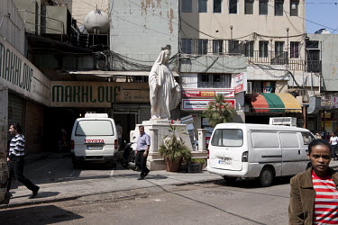 A statue of the Virgin Mary in the Dora neighbourhood.