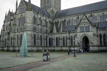A vaccination centre inside Salisbury Cathedral treating around 1000 people per day.