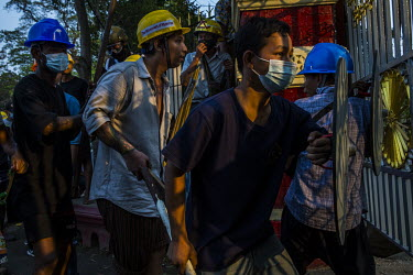 After they were attacked with slingshots by a group of pro-military thugs, including monks, from a monastery known to be linked to the ultra-nationalist Patriotic Association of Myanmar (Ma Ba Tha), l...
