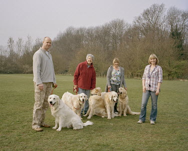 Dog walkers in Petts Wood Recreation Ground.