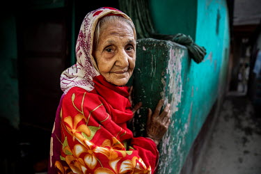 An elderly woman in the urban refugee camp popularly known as 'Geneva Camp'. The people living in the area are related to Muslims who moved here mostly, but not exclusively, from Bihar in India after...