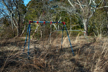 A children's play park abandoned since March 2011 due to elevated radiation levels.  The entire population of Futaba was evacuated en masse after the Fukushima Daiichi nuclear disaster. Since 2013, on...