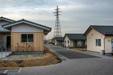 New houses, built only seven kilometres away from the Fukushima Daiichi Nuclear Power Plant, ready for returnees to the town.  Okuma was totally evacuated in the aftermath of the Fukushima Daiichi nuc...