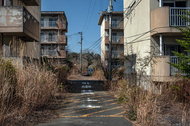 A public housing estate abandoned since March 2011 because of elevated radiation levels.  The entire population of Futaba was evacuated en masse after the Fukushima Daiichi nuclear disaster. Since 201...