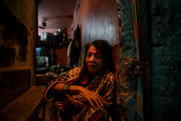 A woman living in the urban refugee camp popularly known as 'Geneva Camp'. The people living in the area are related to Muslims who moved here mostly, but not exclusively, from Bihar in India after pa...