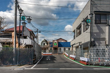 The area of the town around the train station.   Okuma was totally evacuated in the aftermath of the Fukushima Daiichi nuclear disaster, the nuclear plant is just four Kilometres away. Residents were...