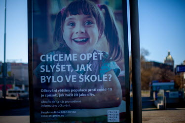 A public advertisement for COVID-19 vaccinations reads: 'Do we want to know again how it was at school?' On 1 March 2021 the state of emergency lockdown in the Czech Republic was reinstalled because o...