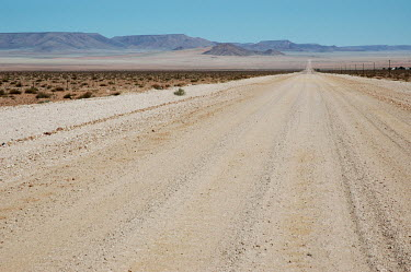 A gravel road near Aus in southern Namibia.