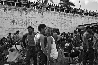 A party for the workers of Belo Monte dam on the river bank in Altamira. On the last weekend of the month, when the workers receive their salary, Altamira became a chaotic mess. With thousands of drun...