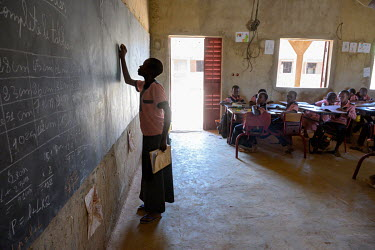 Students in a classroom at the Denro de Koudougou association which offers completely free schooling to children.
