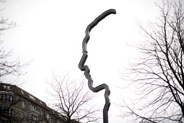 A memorial to Georg Elser on Wilhelmstrasse. Elser planned and carried out the failed assassination of Adolf Hitler on 8 November 1939 at the Burgerbraukeller in Munich.