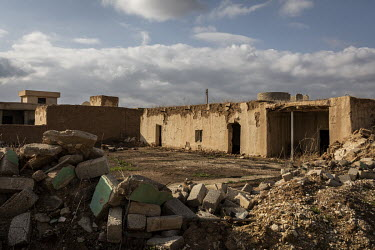 The now abandoned Yazidi village of Kocho lies in ruins more than four years after it was liberated from ISIS rule.