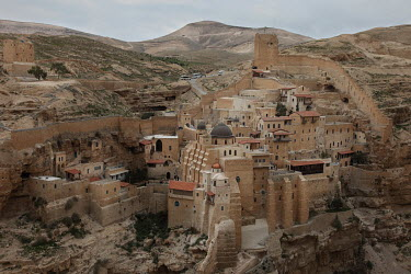 Holy Lavra of Saint Sabbas, known in Syriac as Mar Saba, a 5th century CE Greek Orthodox monastery complex in the Judaean Desert.