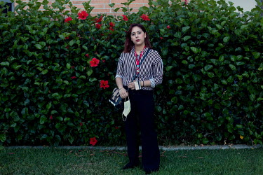 Ana Zamora stands by the White Memorial Hospital, where she works, in Boyle Heights. She is a Deferred Action for Childhood Arrivals (DACA) recipient and an essential worker.   Ana Zamora, 21, came...