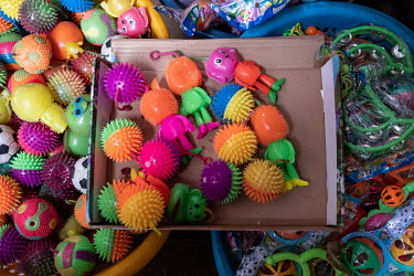 Chinese plastic toys for sale in Kejetia market (Kumasi Central Market).