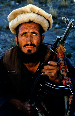 A mujahideen fighter from the group of Commander Amin Wardak.
