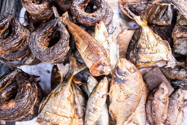 Dried fish for sale at Kejetia market (Kumasi Central Market).