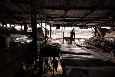 A metal workshop on the edge of Kejetia market (Kumasi Central Market).