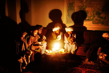 Taliban, who have defected from the Islamist group, during a meeting with Ahmad Shah Massoud.