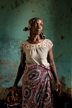 Laraba Sabo who has a mental health issue. Her daughter Maria has taken care of her for the five months they've been at the Dr Amina Aliyu Shekwonya Herbal Centre. Maria prepares herbs as instructed b...