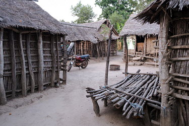 Homes in the village of Dekanme along the Oueme River. Dwindling fish stocks are one of many factors that accelerate pressure on forests, as people must instead clear land for agriculture or hunt. Wha...