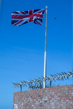 A Union Jack flag flies over the Heugh Battery Museum, on the Headland, marking the only WW1 battlefield on UK soil. It was here in 1914 that the first British soldier killed on British soil died as a...