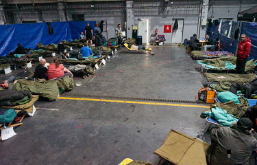 About 50 people have found a shelter at the DEPO 2015 centre, opened by Pilsen City Hall and NGOs as a COVID-19 emergency shelter for the city's homeless people.