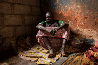 Taofeek Buraimo, who says he doesn't know how old he is at Oke Oloro where he has been since January 2019. He is there being treated for a mental health issue. While being treated there he has had a c...