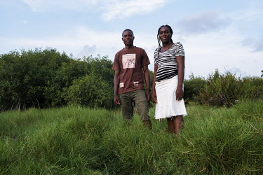Beninese scientists and conservationists Gboja Mariano Houngbedji (left) and Chrystelle Dakpogan. The couple founded local NGO ODDB (Organisation pour le Developpement Durable et la Biodiversite/ Orga...