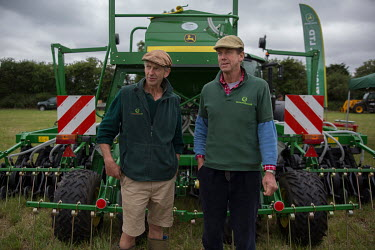 John and Paul Cherry at Groundswell 2017, a conference and agricultural show on the subject of 'no till' farming that they organised and hosted at Lannock Farm.