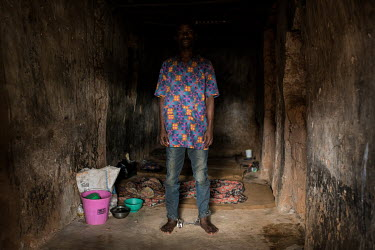 A patient whose has had his ankles shackled in a small dark cell at the Emmanuel Rehabilitation Centre for Mentally Ill People which is run by Miss Mojisola Adeniyi. They treat patients with injectabl...