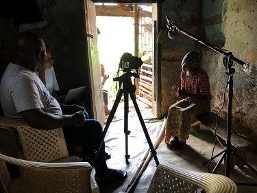 Adegbayi Titilayo Victoria (30), who is from Lagos, is interviewed for Human Rights Watch at the Emmanuel Rehabilitation Centre for Mentally Ill People. Victoria lives with a mental health issue. She...