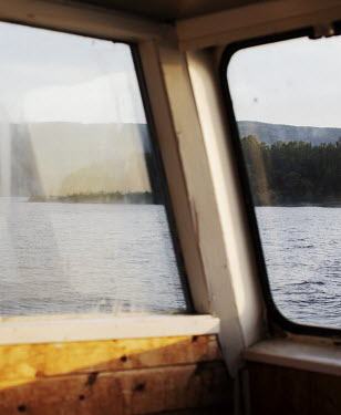 View from MS Thorbjorn, the ferry that carries passengers from the quay on the mainland to the island of Utoya. Anders Behring Breivik took this ferry out to the island to carry out his massacre, on 2...