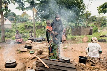 Patients and family members prepare herbal remedies at the Dr Amina Aliyu Shekwonya Herbal Centre. Doctor Shekwonya says that her medicines are for people with ''mental problems, those involved in sec...