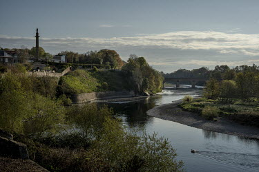 The river Tweed forms the border between Scotland and England, on the left lies the town of Coldstream in Scotland home to the Coldstream Guards, most famous for their role as protectors of the monarc...